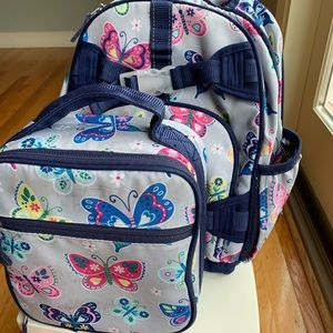 PB Kids Butterfly Backpack & Lunchbox